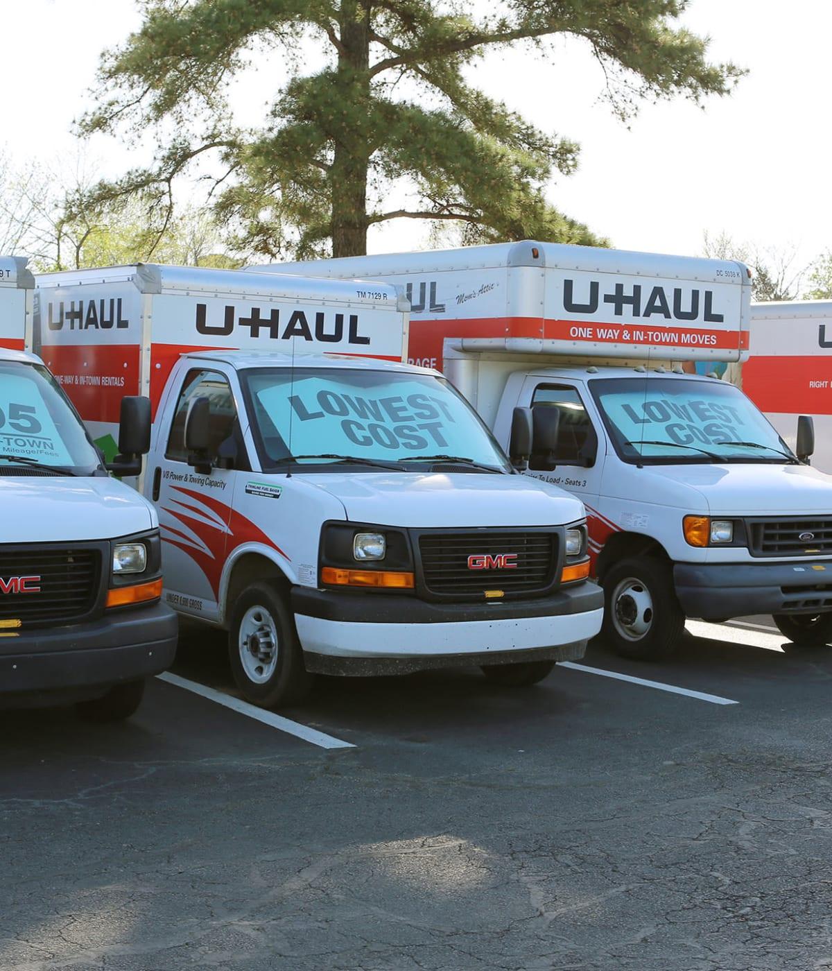 Midgard Self Storage in Midland, North Carolina, has moving trucks for rent