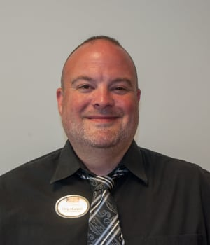 Greg Mundell, Resident Care Manager at Patriots Landing in DuPont, Washington.