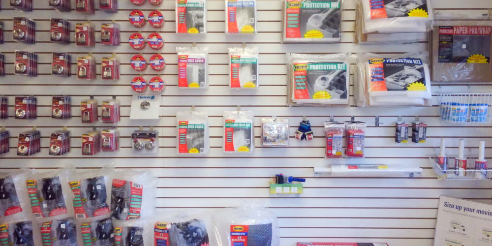 An assortment of packing and moving supplies available at StorQuest Self Storage in Port St Lucie, Florida