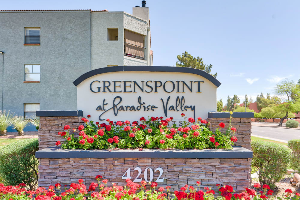 Entry Sign at Greenspoint at Paradise Valley in Phoenix, Arizona