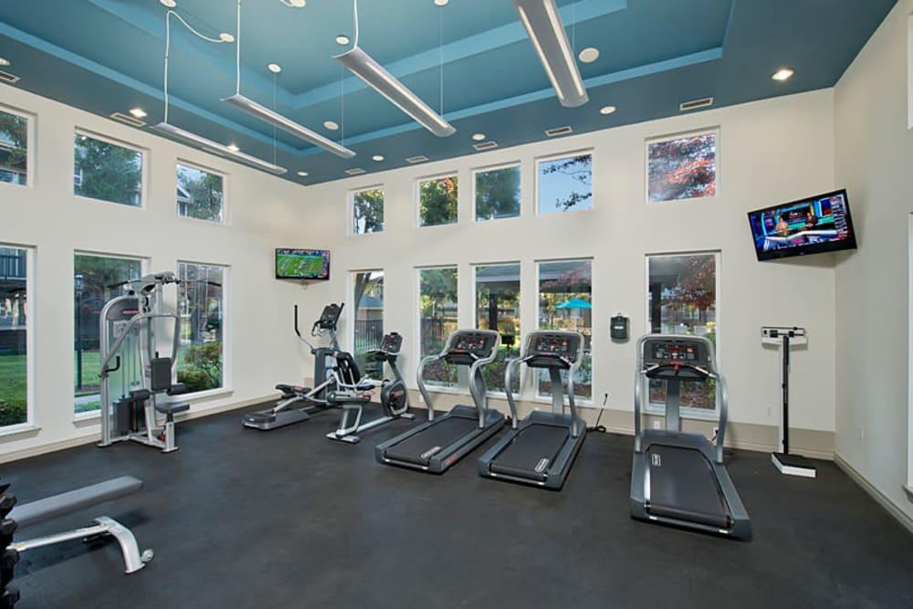 Onsite fitness center at Cortland Village Apartment Homes in Hillsboro, Oregon