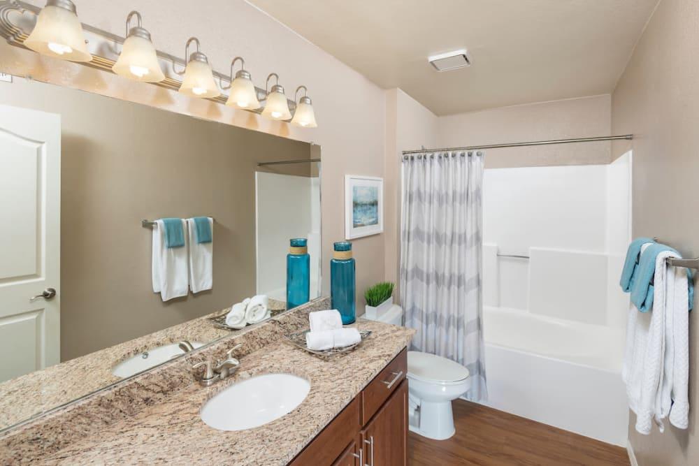 Bathroom at San Marin at the Civic Center in Scottsdale, Arizona