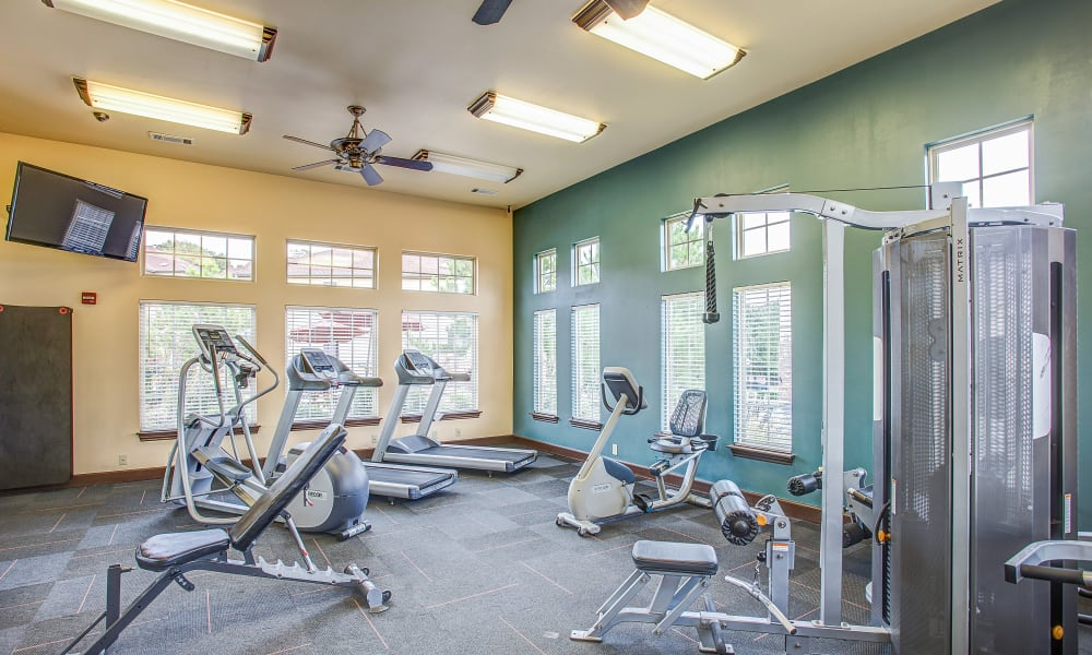 A fitness center at Tuscany Hills in Tulsa, Oklahoma