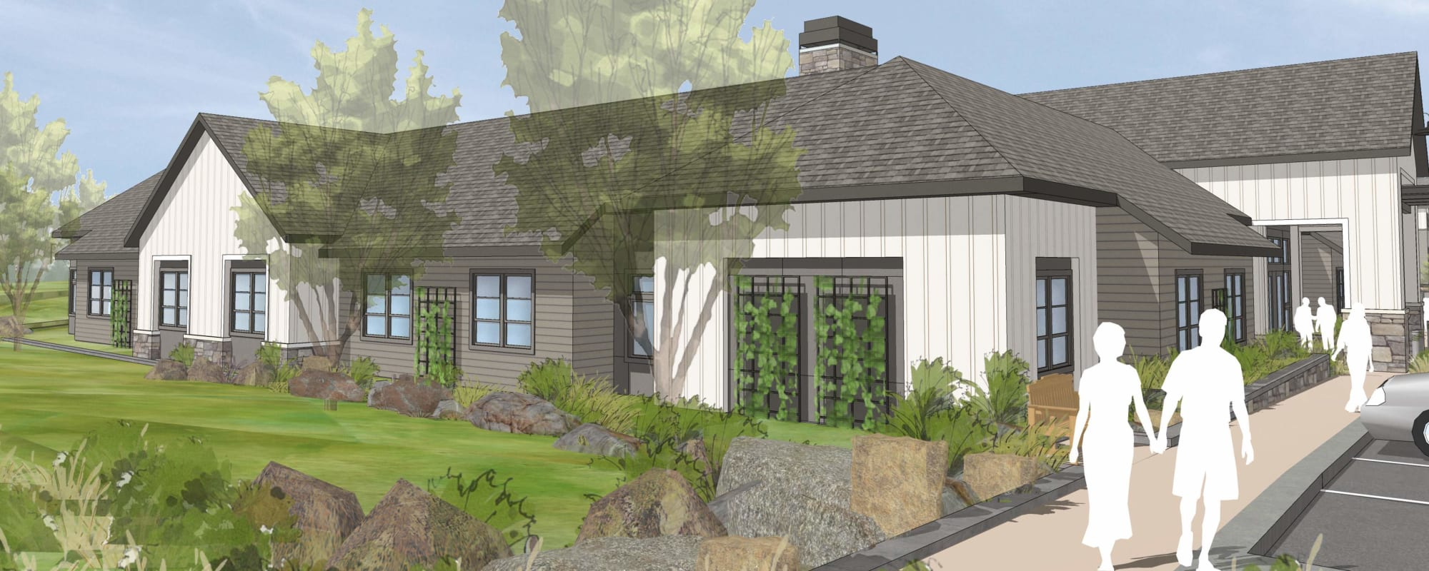 Rendering of The Springs at Happy Valley facility at Happy Valley, Oregon
