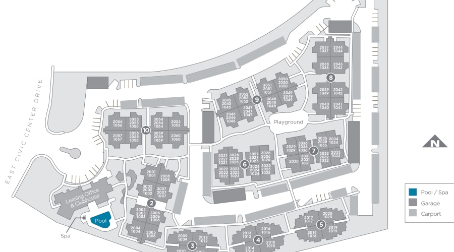 The Reserve at Gilbert Towne Centre site plan