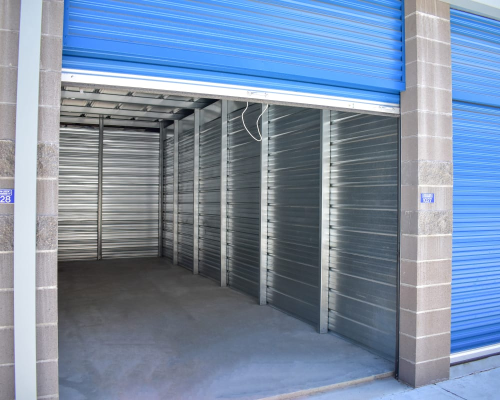 Enclosed auto storage at STOR-N-LOCK Self Storage in Redlands, California