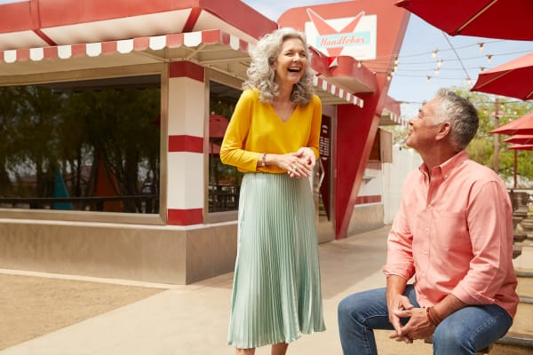 Couple at a restaurant near BB Living at Eastmark in Mesa, Arizona