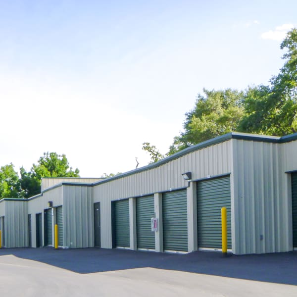 Outdoor storage units offer convenient access at Missouri Flat Storage Depot in Placerville, California