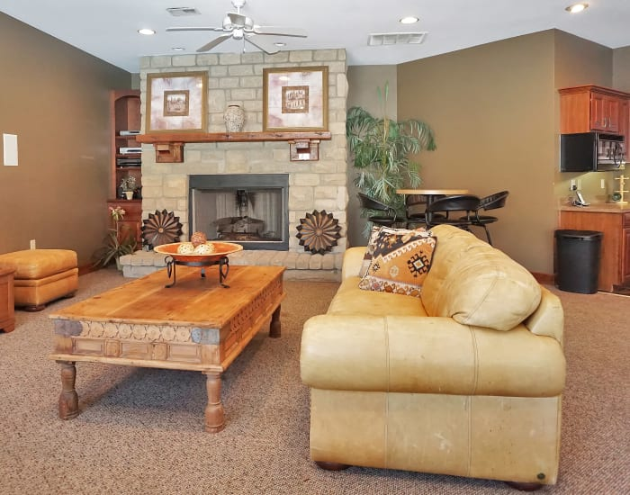 Well-decorated living room in model home at Renaissance St. Andrews in Louisville, Kentucky