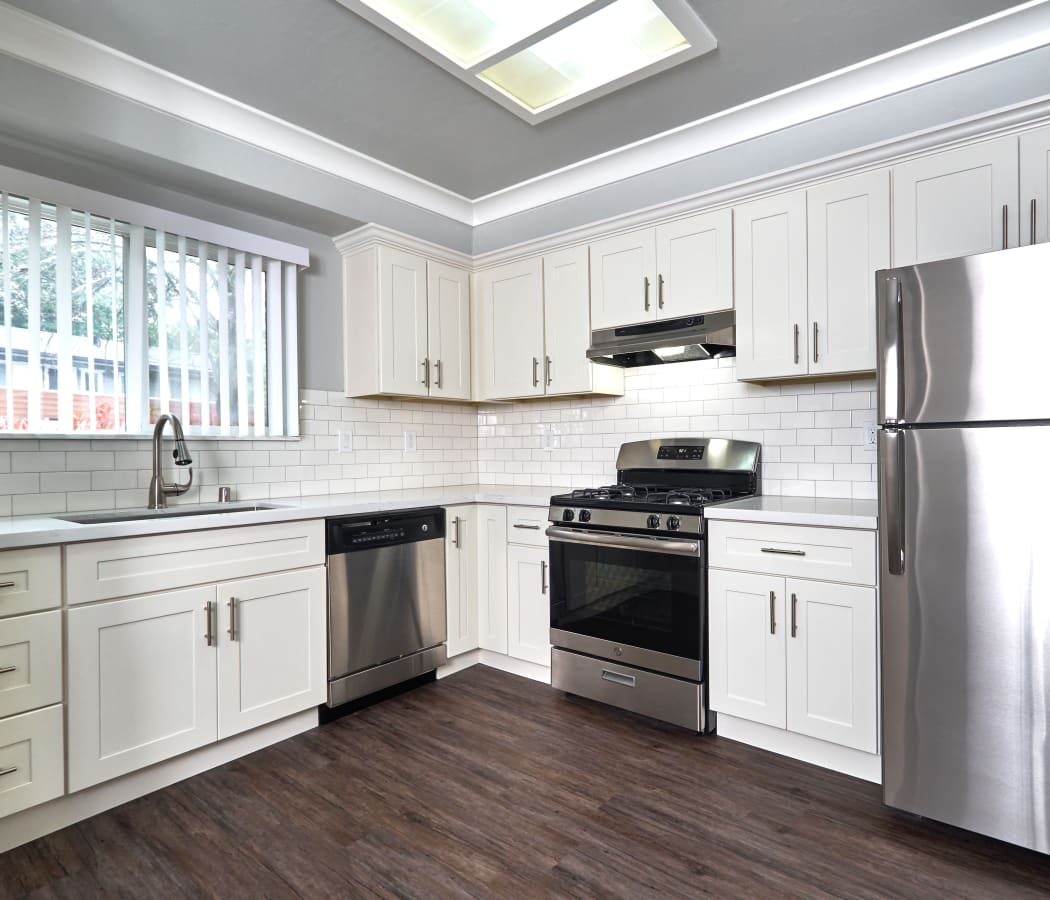 Spacious kitchen with stainless-steel appliances at Scotts Valley in Scotts Valley, California