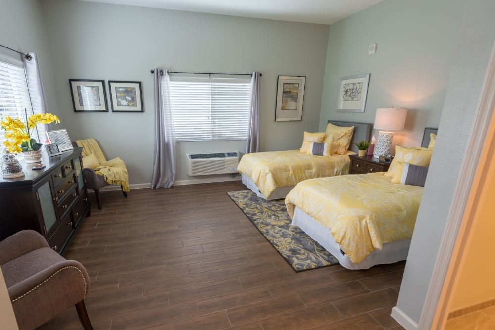 A companion bedroom at Inspired Living in Ocoee, Florida.