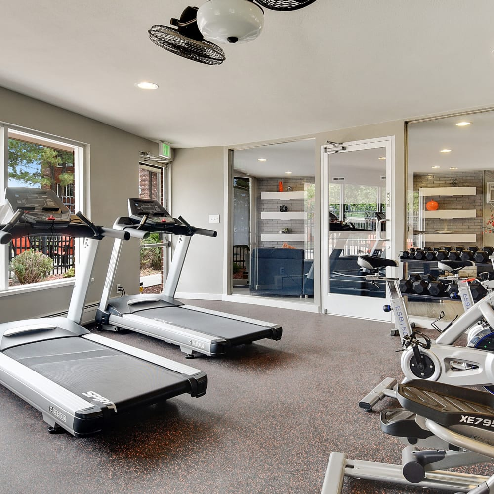 Cardio equipment and more in the fitness center at Ten49 in Broomfield, Colorado