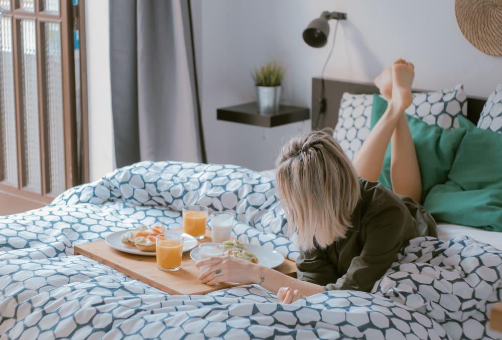 Breakfast in bed at Arcadia Decatur in Decatur, Georgia