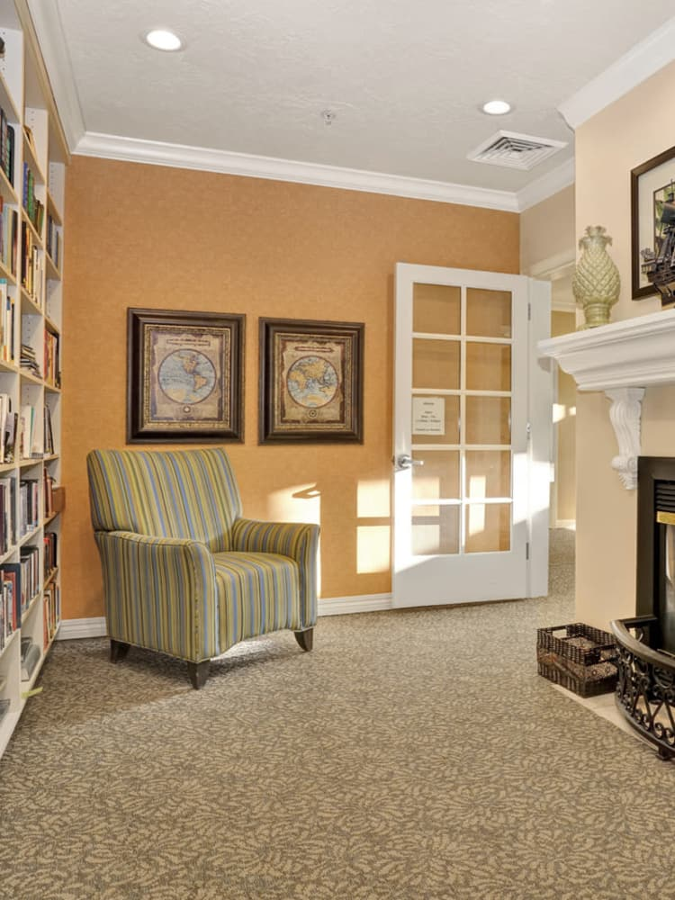 Comfortable seating at The Charleston at Cedar Hills in Cedar Hills, Utah