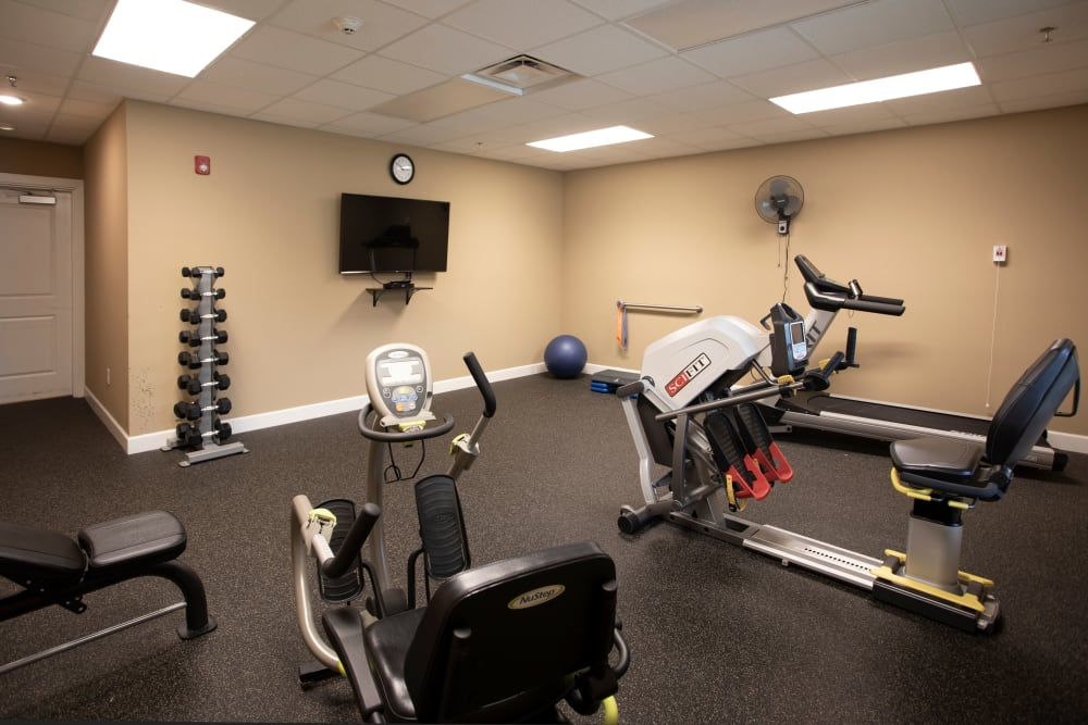 Fitness center at The Harmony Collection at Columbia in Columbia, South Carolina
