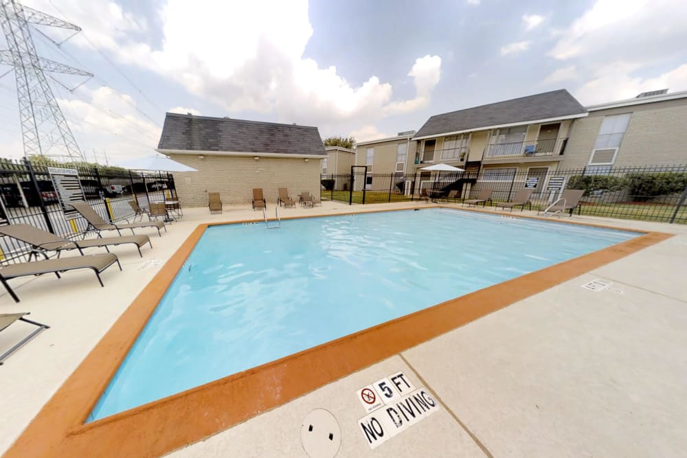 Refreshing swimming pool at Northlake Manor Apartments in Humble, Texas