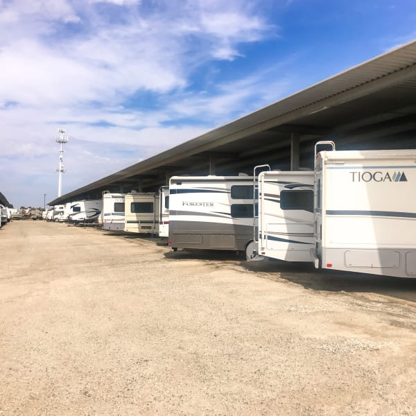 Covered RV parking at StorQuest Express Self Service Storage in Castle Rock, Colorado