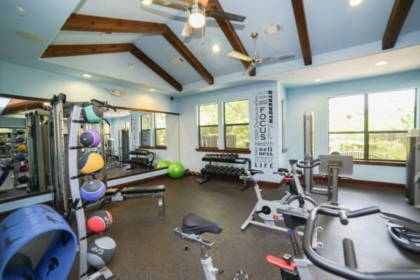 Fitness center at The Bridge at Tech Ridge in Austin