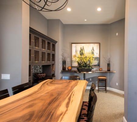 Residential wine room at Alicante Apartment Homes in Aliso Viejo, California