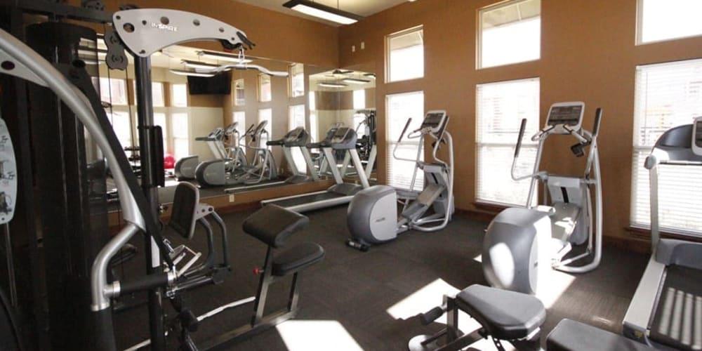 Fitness center for residents at Icon at Broken Arrow in Broken Arrow, Oklahoma