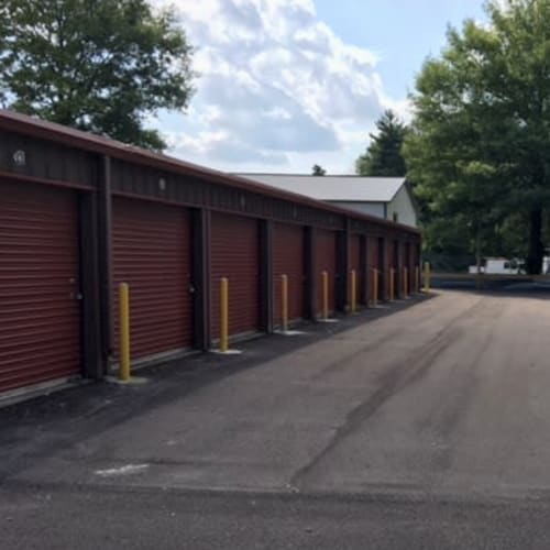 Outdoor storage units at Red Dot Storage in Terre Haute, Indiana