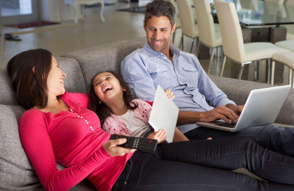 Residents enjoying their new home at Kannan Station Apartment Homes in Kannapolis, North Carolina