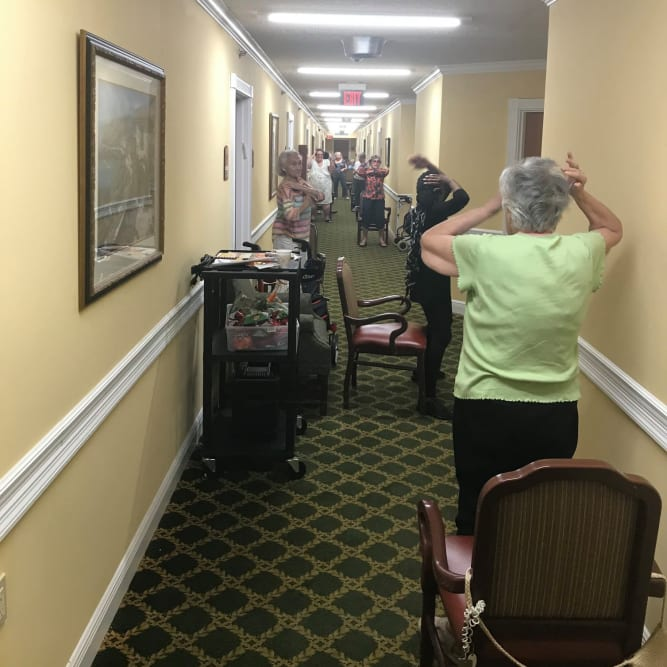 Residents at Grand Villa of Pinellas Park in Pinellas Park, Florida
