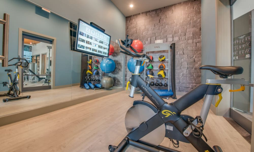 Fitness center with everything to break a sweat after a long day at work at Bellrock Upper North in Haltom City, Texas