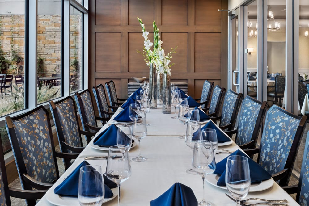 large private dining table