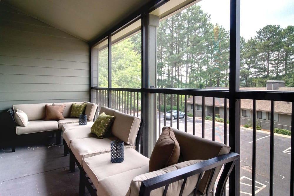 Private Balcony at Apartments in Sandy Springs, Georgia