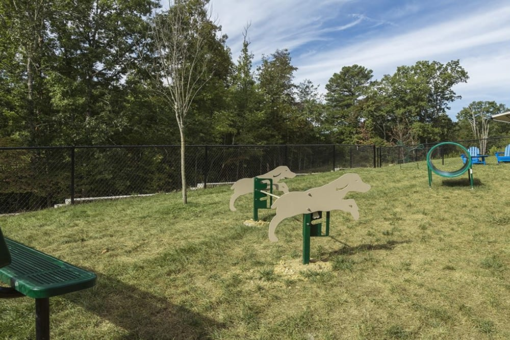 Dog park at Integra Hills Preserve Apartments in Ooltewah, Tennessee