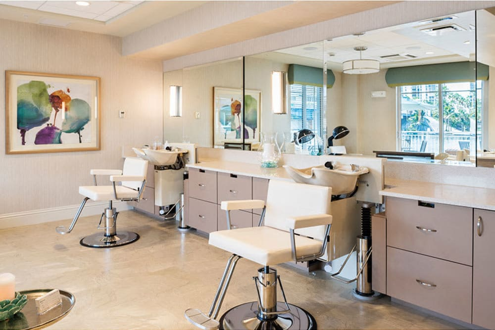 Our in-house salon at The Meridian at Waterways in Fort Lauderdale, Florida