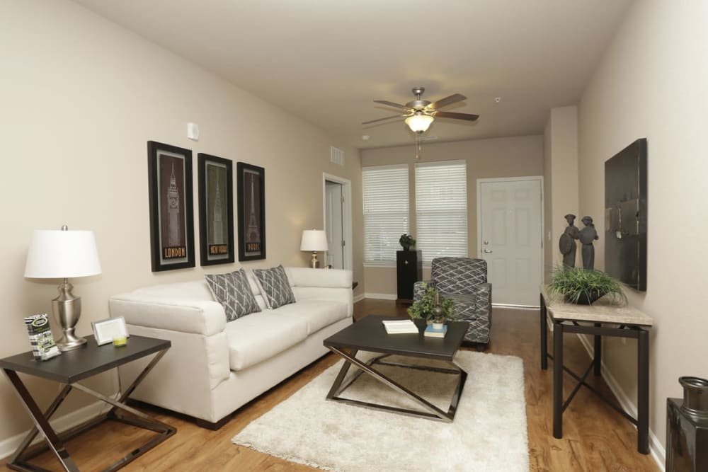Living room at Springs at Laurens Road in Greenville