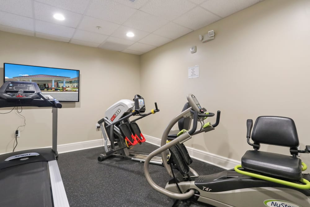 Fitness room at Harmony at Martinsburg in Martinsburg, West Virginia