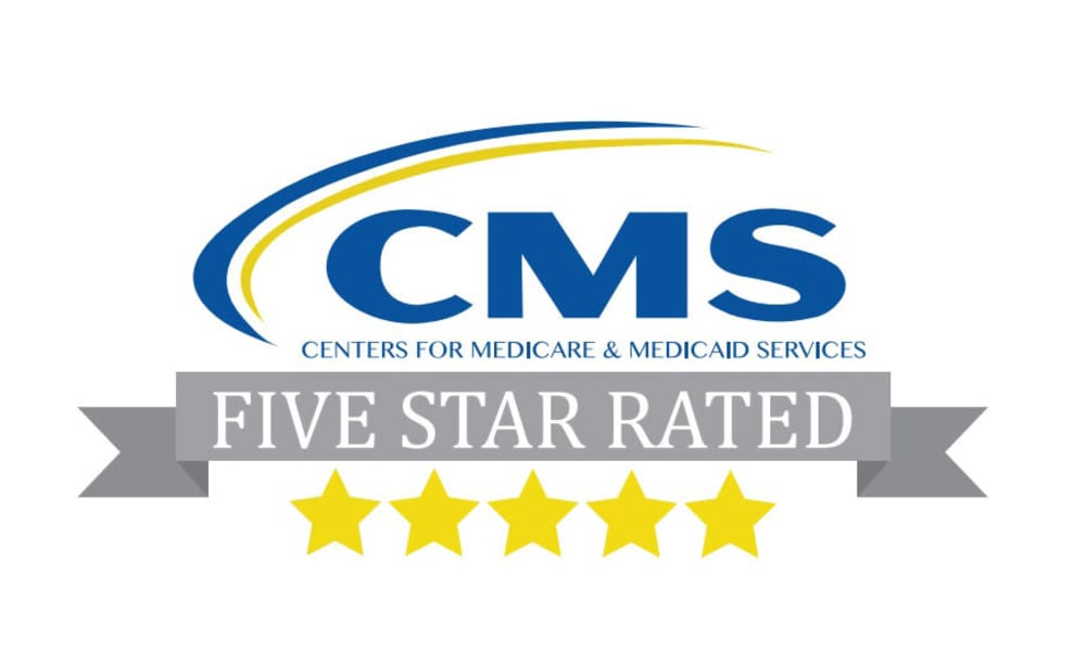 Touchmark on South Hill in Spokane, Washington  has been rated a five-star community by the Centers for Medicare and Medicaid Services for the last nine years (2011 - 2019).