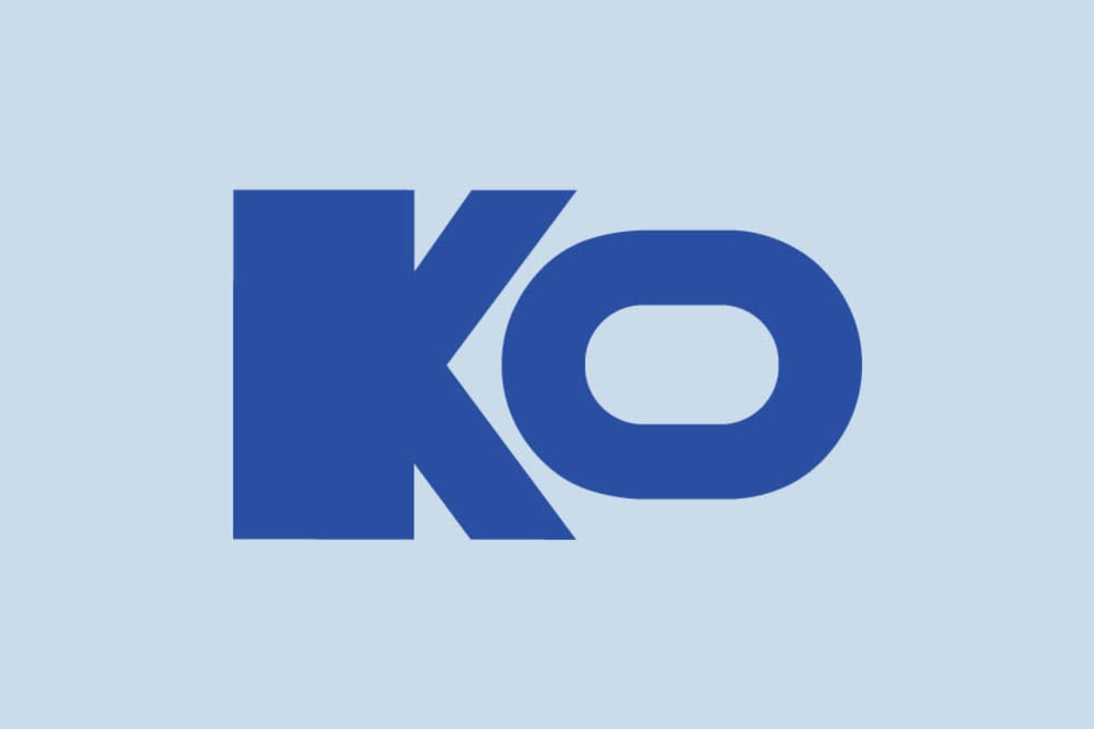 The KO logo at KO Storage of Albert Lea in Albert Lea, Minnesota