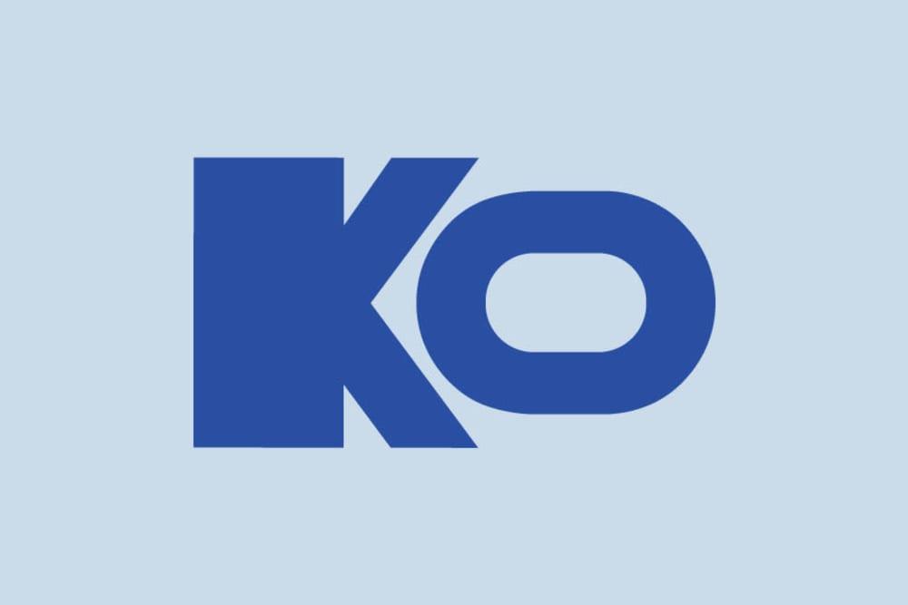 The KO logo for KO Storage of Cleburne in Cleburne, Texas.