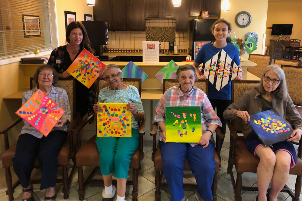 Painting class inspired by local artist at The Oaks