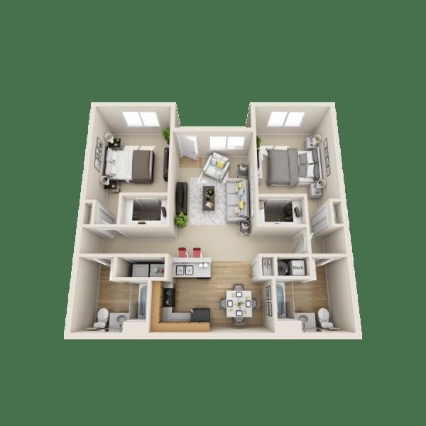 Isleta floor plan at Las Kivas Apartments