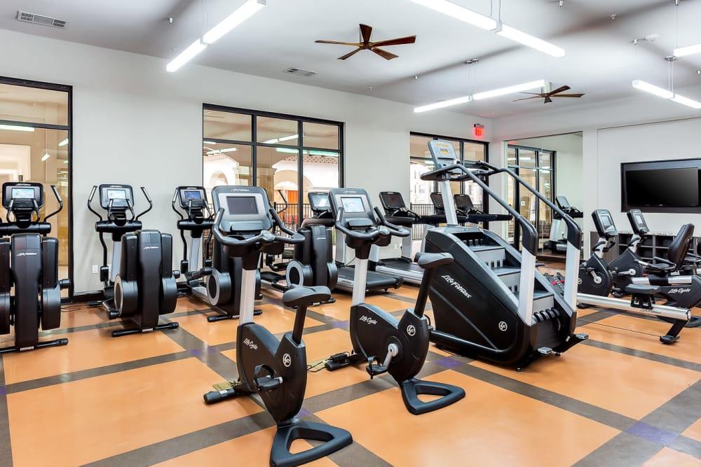 Exercise equipment at Villas at the Rim in San Antonio, Texas