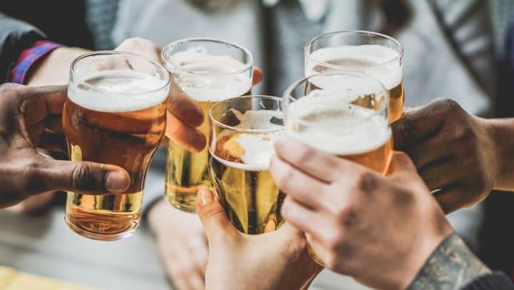Residents at Cadia Crossing in Gilbet, Arizona, enjoying pints of beer