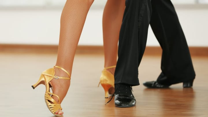 Dancers practicing their moves at a local dance studio near Sundance Creek in Midland, Texas