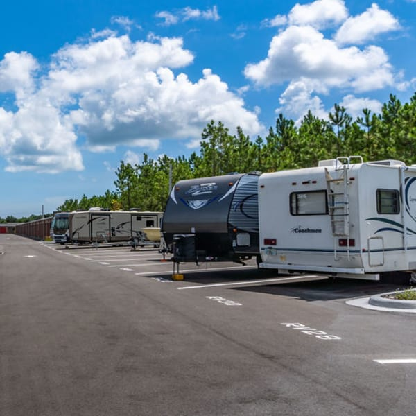 RV parking spaces at StorQuest Self Storage in Stockton, California