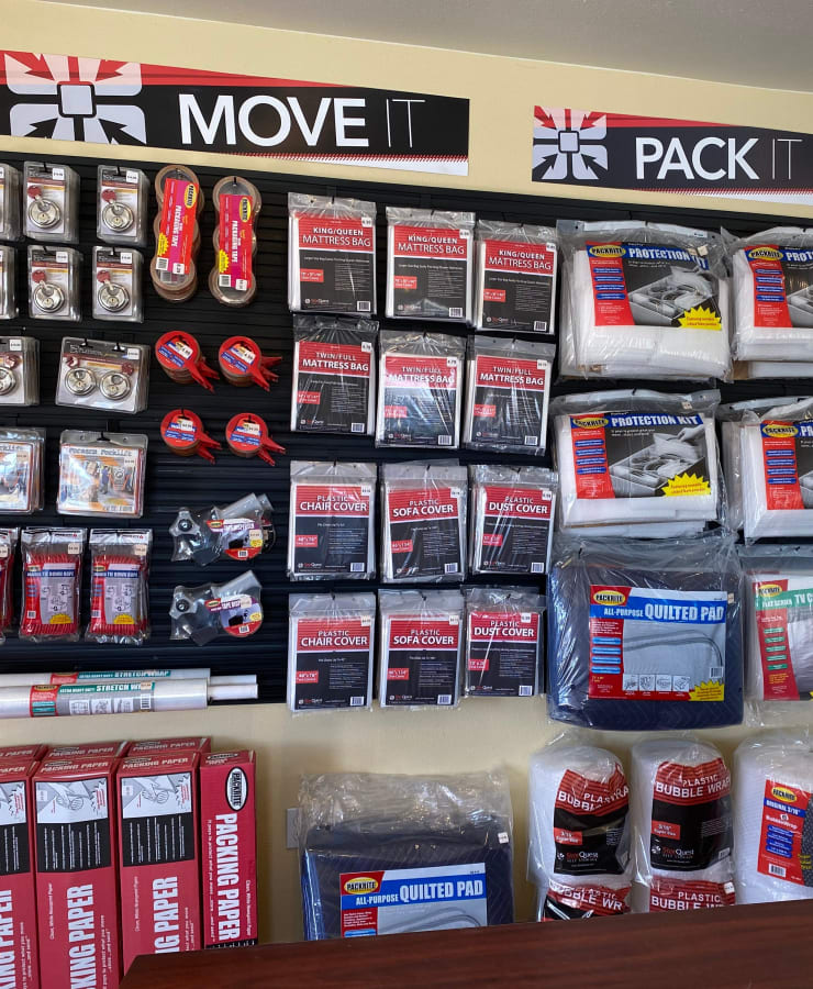 Packing supplies available at StorQuest Self Storage in Sparks, Nevada