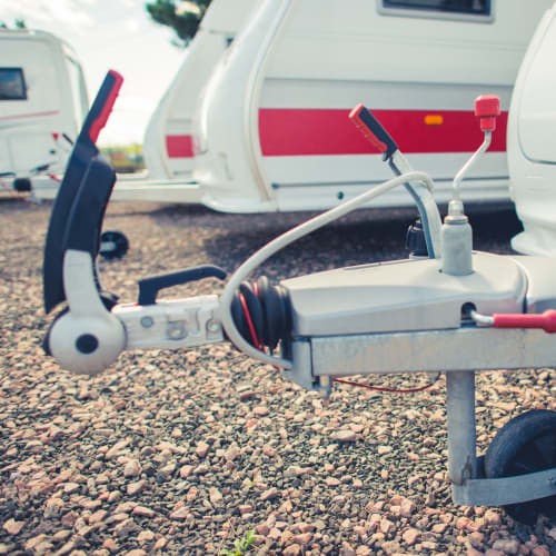 RV parking and storage at Red Dot Storage in Osceola, Indiana