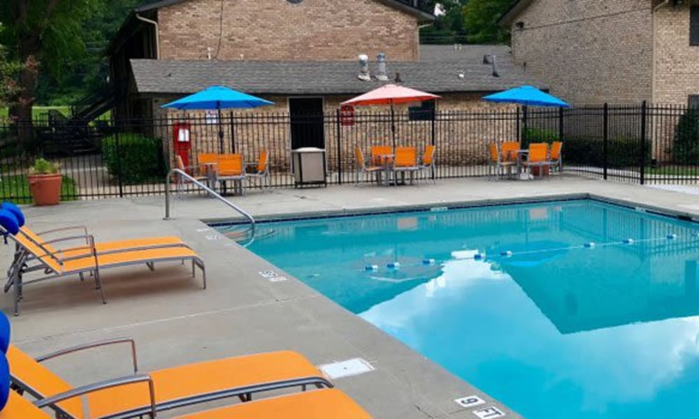 Poolside view at Lexington Park Apartments in Smyrna, Georgia