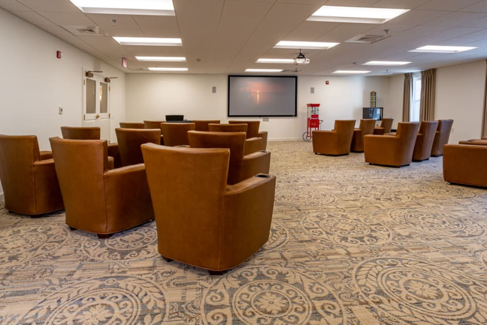 Theatre at The Harmony Collection at Roanoke - Assisted Living in Roanoke, Virginia