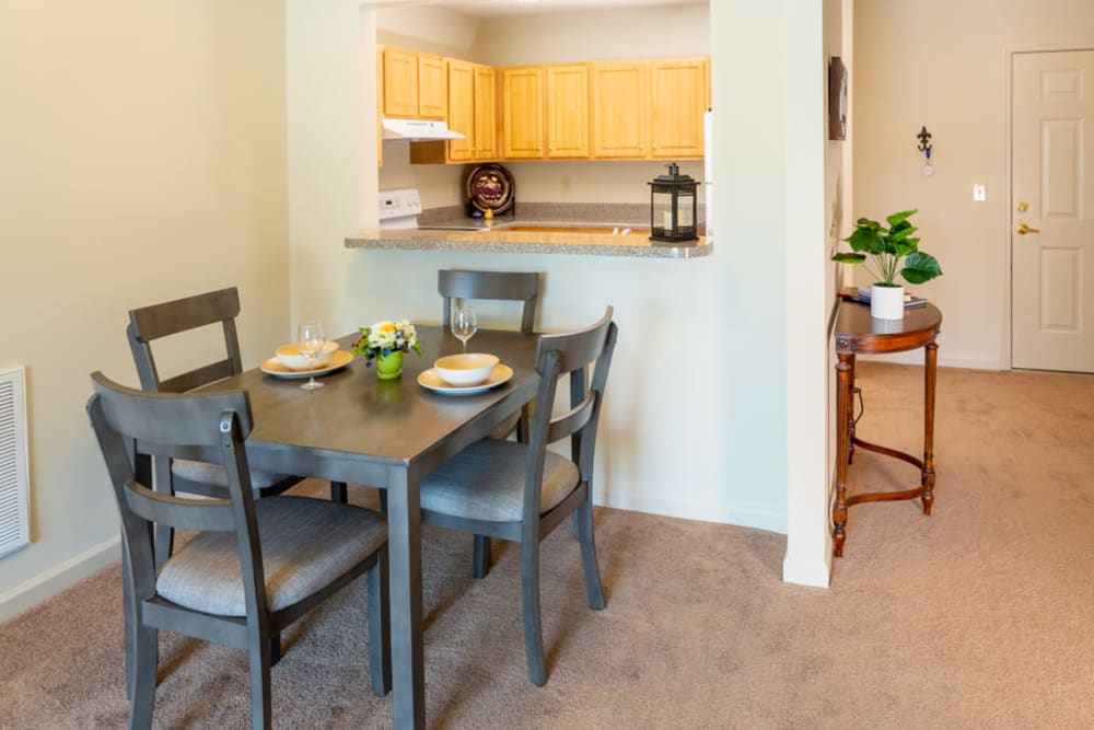 Apartment eat-in table at The Harmony Collection at Roanoke - Independent Living in Roanoke, Virginia