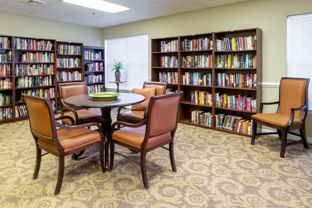 Library at The Harmony Collection at Roanoke - Independent Living in Roanoke, Virginia