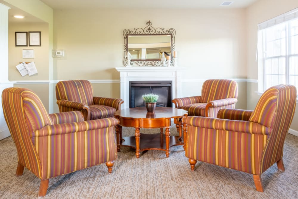 Seating area at The Harmony Collection at Roanoke - Independent Living in Roanoke, Virginia